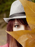 Autumn eye Royalty Free Stock Photos