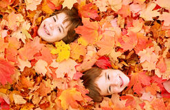 Autumn Faces Stock Photos