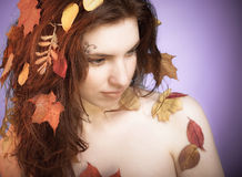 Autumn fairy Stock Photos