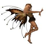 Autumn Fairy. Digital render of a cute little fairy in Autumn colours stock illustration