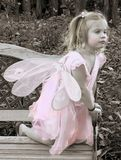 Autumn Fairy. Pretty little fairy finds a quiet spot to daydream Stock Image