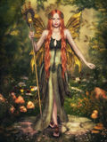 Autumn Fairy craphics för dator 3d stock illustrationer