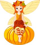 Autumn fairy girl Royalty Free Stock Photography