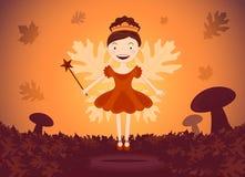 Autumn fairy in wood Stock Photography