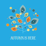 Autumn or fall background with foliage leaves on Royalty Free Stock Photography