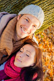 Autumn fall couple Royalty Free Stock Image