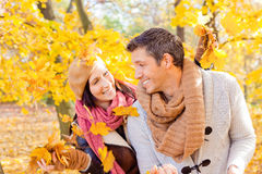 Autumn fall couple stock image