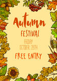 Autumn Fall Festival template background. Stock Photos