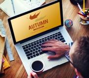Autumn Fall Foliage Fresh Nature-Seizoen Trillend Concept Stock Afbeeldingen