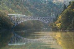 Fukushima First Bridge Tadami River Japan Royalty Free Stock Images