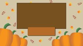 Autumn Fall Harvest Blank Card ilustración del vector