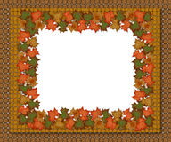 Autumn fall leaves border design Stock Photo