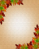 Autumn Fall Leaves Border Frame Stock Image