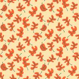 Autumn fall leaves. Floral seamless pattern background. Ornament Stock Photography