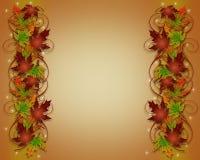 Autumn Fall Leaves Thanksgiving Border vector illustration