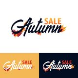 Autumn fall logo and Emblem. Vector Illustration. Autumn fall logo and Emblem. Vector Illustration Royalty Free Stock Image