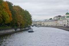Autumn fall Neva  St. Petersburg, Russia Stock Photo