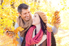 Autumn fall people Royalty Free Stock Images