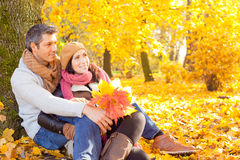 Autumn fall people stock image