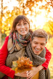 Autumn fall relationship Stock Photo