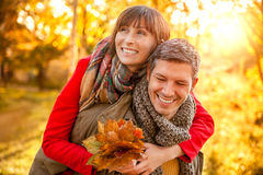 Autumn fall relationship Stock Photos