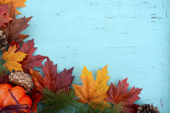 Autumn Fall Rustic Wood Background. Stock Image