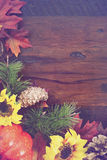 Autumn Fall Rustic Wood Background. Royalty Free Stock Photo