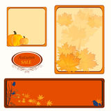 Autumn fall sale label set Stock Photography