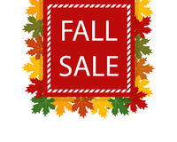 Autumn fall sale Stock Images
