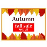 Autumn fall sale off concept background, realistic style. Autumn fall sale off concept background. Realistic illustration of autumn fall sale off vector concept vector illustration