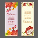 Autumn fall season plant vertical banner. Additional file in eps 10 stock illustration