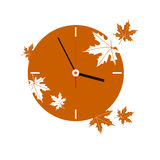 Autumn fall vector watches electronics arrow. Time Stock Illustration