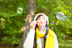Autumn fall woman stock images
