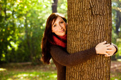 Autumn fall woman Royalty Free Stock Photo