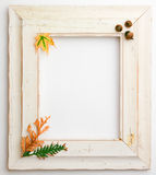 Autumn Fall wooden frame Stock Images