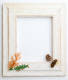Autumn Fall wooden frame Royalty Free Stock Image