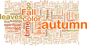 Autumn fall wordcloud Stock Photography