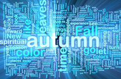 Autumn fall wordcloud glowing Stock Photo