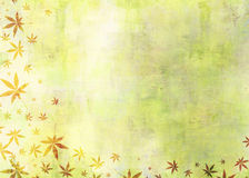 Autumn Fallen Leaves Abstract Painting Grunge Background Stock Image