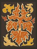 Autumn Fallen Leaves in de Kleuren van de Vlamoogst royalty-vrije illustratie