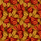Autumn fallen leaves seamless pattern Royalty Free Stock Photography