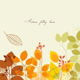 Autumn falling background Stock Image