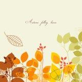 Autumn falling background Stock Image