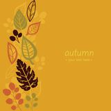Autumn falling leaves background Stock Photography