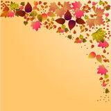 Autumn falling leaves background. Includes EPS 10 vector Royalty Free Stock Photo