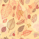 Autumn falling leaves  seamless background Stock Photography