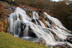 Autumn Falls, Afon Cwm Llan, Snowdon 390 Royalty Free Stock Photo