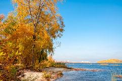 Autumn on the Dnieper River Royalty Free Stock Photos