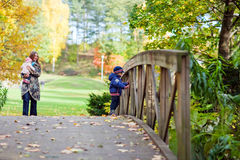 Autumn family Royalty Free Stock Image