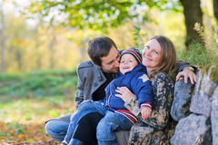 Autumn family Stock Photos